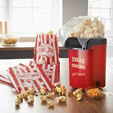 Healthy No Oil Fat Free Hot Air Home & Party 1200W Popcorn Maker Machine - RED