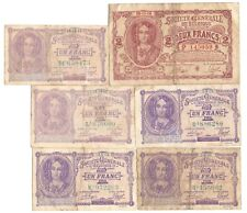 More details for 6x 1915 issue belgium german occupation wwi banknotes 1 & 2 francs 1916 1917