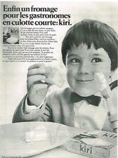 R- Publicité Advertising 1968 Le Fromage Kiri à la crème