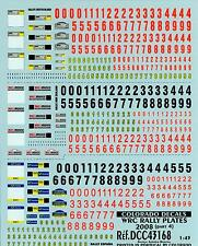 Colorado Decals 1/43 WRC RALLY PLATES 2008 Rally Germany New Zealand & Spain