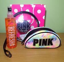 Victoria's Secret PINK Gift Set: Cosmetic Bag/Make Up Case/Body Mist/Gift Bag