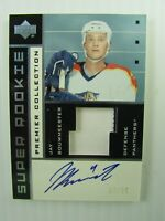 2002-03 UD Super Rookie w/patch Premier Collection Jay Bouwmeester  Autographed