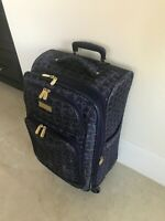 Jessica Simpson Suitcase Anchors Nautical Travel Bag Luggage Carry On Expandable