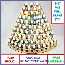 75 BOTTLE PAINT RACK OUTER CORNER USA TYPHOON HOBBY MINIATURE STORAGE