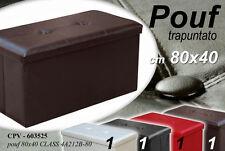 POUF CONTENITORE IMBOTTITO TRAPUNTATO COLORATO 80X40CM CPV-603525