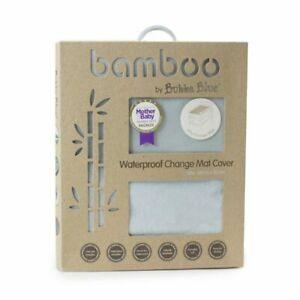 Bubba Blue Grey Bamboo Waterproof Change Pad Cover