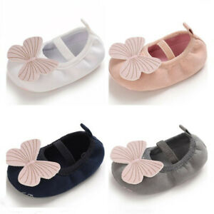 Newborn Baby Girl Crib Shoes Child Infant Butterfly PreWalker Trainers 3 6 9 12
