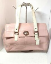 COACH Vintage Leather Pink/White Handbag