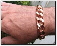 Solid Copper 5/8 of an inch wide  - Men's 9 1/2 Inch Link Bracelet CB639G.