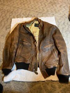 Avirex type G-2 US Navy leather bomber jacket size 42
