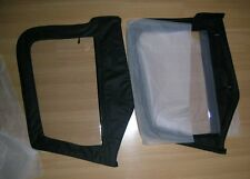 1997-2006 Jeep Wrangler TJ Soft Top Front Upper Door Windows Pair in Black