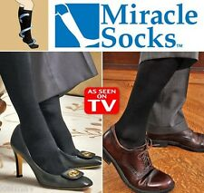 Pair of Miracle Socks Black Anti-Fatigue Compression Stocking Achy Feet reliever