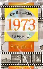 Geburtstagskarte Die Highlights von 1973! Mit Video-CD Jahreschronik, NEU + OVP!