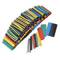 NEW 280PCS 5 Colors 8 Sizes Assorted 2:1 Heat Shrink Tubing Wrap Sleeve Kit - LD