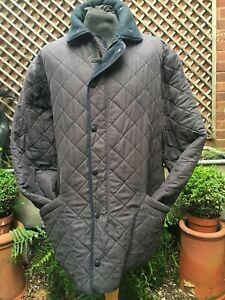 Barbour Microfibre polarquilt Navy Country Casual jacket men's XL