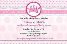 Princesses Baby Shower Greeting Cards and Invitations