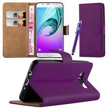 Flip Leather Wallet Book Case Cover Pouch for Various Mobile Phone Screen Guard Samsung Galaxy S7 Purple