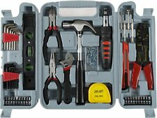 Household Hand Tools, 130 Piece Tool Set by Stalwart, Set Includes – Hammer,