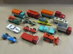 Lot of 15 Vintage Matchbox Lesney Cars & Trucks