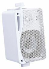 3 in (approx. 7.62 cm) altavoces de música de fondo con soportes 80 W Blanco 4 Ohm