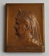 Koningin Emma 25 jaar in Nederland by J. C. Wienecke, 1904 plaquette medal SHBMA