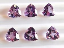 12 Cts 6 Pieces Natural Amethyst Trillion Cut Lot Loose Gemstone Size 9 MM B-169