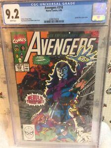 The Avengers #318 CGC 9.2 A Vengeful God!