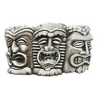 New 3 Tribal Tiki Tikki Masks Hiaw Belt Buckle Gürtelschnalle Boucle de ceinture