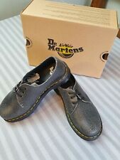 "New Dr Martens AirWair ""Cristal Suede"" black/white 3 eye shoes size UK 5 unisex"