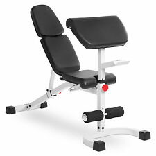 XMark Fitness FID Weight Bench with Preacher Curl XM-4417-White