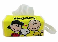 SNOOPY HUG Hanging / Table Tissue Box Cover for Home or Car yellow
