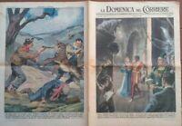 1951 DOMENICA DEL CORRIERE CON 'OTELLO' SCALA DI MILANO, CANE EROE IN CAMPANIA