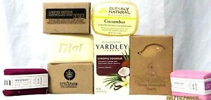 Bar Soaps W/ Oatmeal, Milk, Honey, Coconut, Cucumber, Activated Charcoal & More