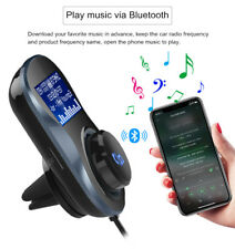 Audio Bluetooth Handsfree Calling USB Charger FM Transmitter Car Kit for iPhone