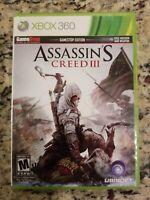 XBOX 360 Assassins Creed III GameStop Edition Game Disc Ubisoft