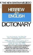 The New Bantam-Megiddo Hebrew & English Dictionary (English and Hebrew Edition..