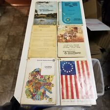 Vtg 1970s Northwest Illinois Phone Book Lot of 6, Advertising Collectible