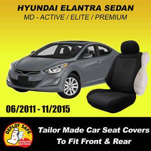 Car Seat Covers Hyundai Elantra Active Elite Premium 06/2011-11/2015 Airbag Safe