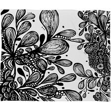 DENY designs WILD LEAVES Soft Fleece Blanket by Artist Julia Da Rocha 60x80 inch