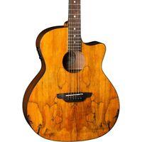 Luna Guitars Gypsy Spalt Grand Auditorium Acoustic-Electric Guitar