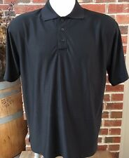 Golf Channel Mens L Amateur Tour Sky Caddie Black Short Sleeve Shirt