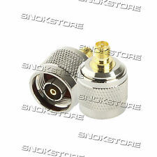 ADATTATORE CONNETTORE RP-N FEMALE to RP-SMA MALE CONNECTOR ADAPTER RF COAXIAL