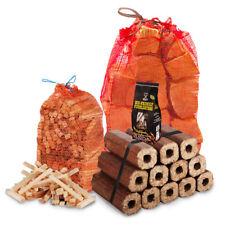 FIRE PIT PACK KIT 10kg Seasoned Logs, 12 Heat Logs, 3kg Kindling, Fire Lighters