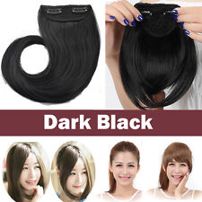 One Piece Neat/Side Fringes Bangs Clip in Hair Extension Soft as Natural Human T