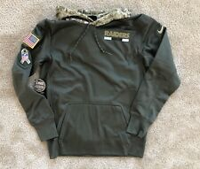 Oakland Raiders Nike Salute To Service Therma Olive Camo Hoodie Medium NWT