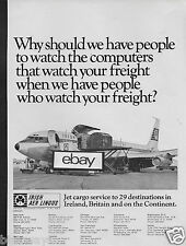 AER LINGUS IRISH AIRLINES BOEING 720/707 FREIGHTER JET CARGO 29 CITIES 1969 AD