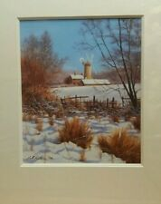 windmills of my mind winter's rest by bill makinson limited edition mounted