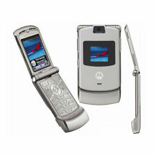 Motorola RAZR V3 Klapphandy ohne Simlock Handy Silber UNLOCKED MOBILE PHONE