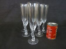 More details for igor carl fabergé set of six crystal kissing doves glass champagne flutes #1