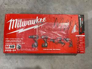 Milwaukee 2695-24 M18 18V Cordless Lithium-Ion 4-Tool Combo Kit